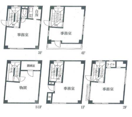 RC造ビル間取り,4階建て,RC造