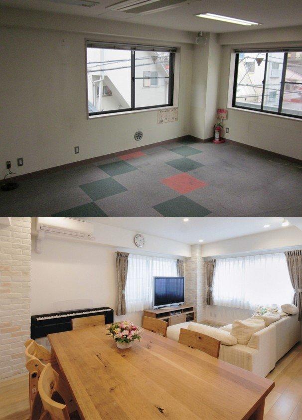 事務所ビル2階をLDKへリノベーション