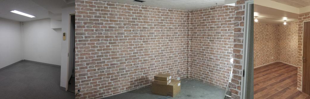 地下室のリノベーション(倉庫→居室)