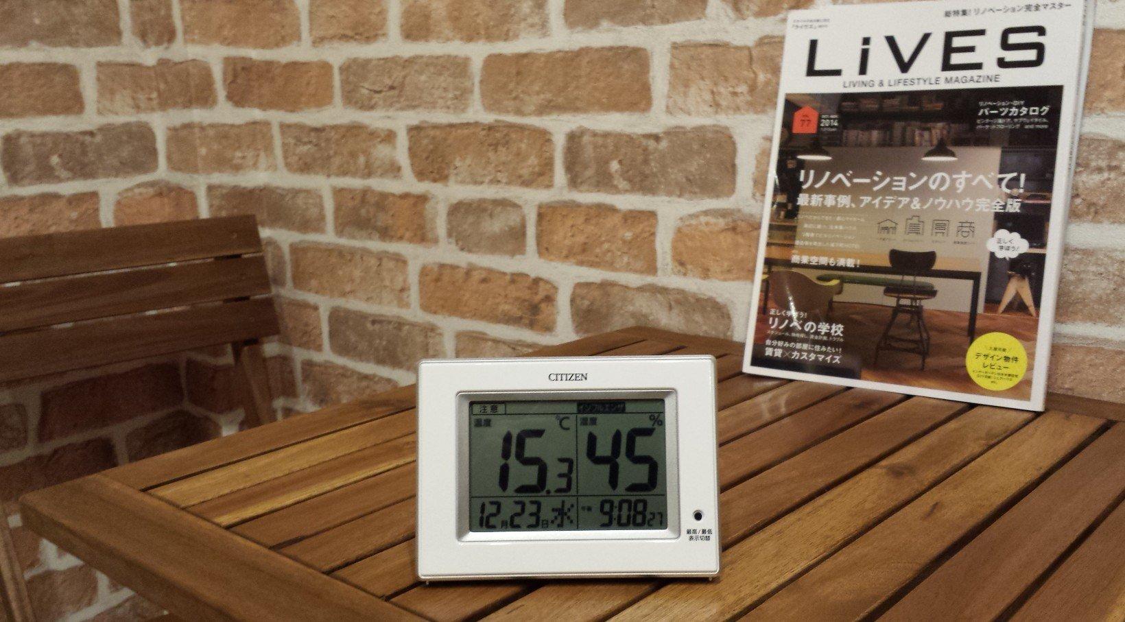 外気温6度(雨)。 地下室 気温15度、湿度45%