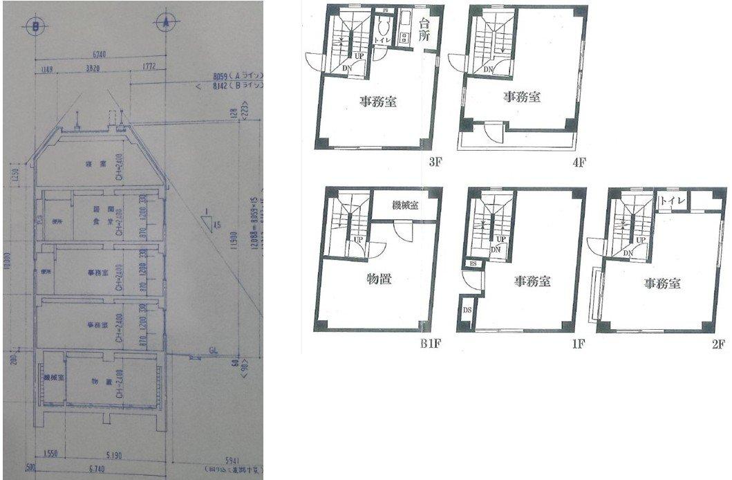 地下1階、地上4階建ての中古RC事務所ビルを購入&リノベーションして住宅として住み始めたブログです。建坪面積35m2(10.5坪)、延べ床面積170m2(52坪)です。