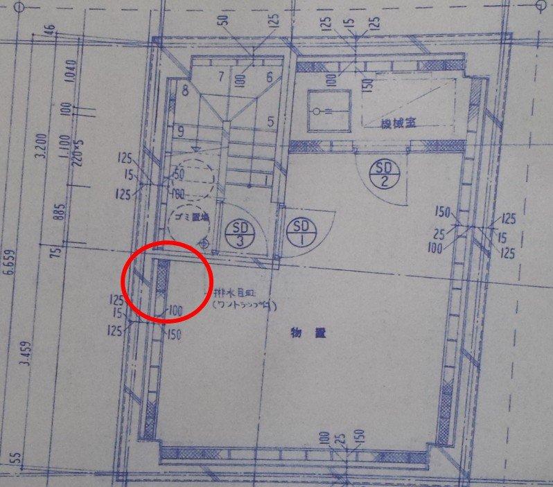 地下室構造図面