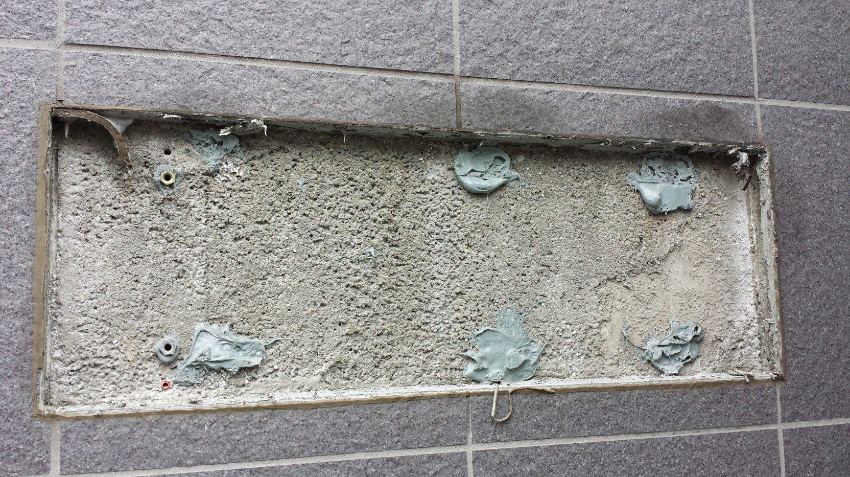 銅製の事務所看板が撤去されました。