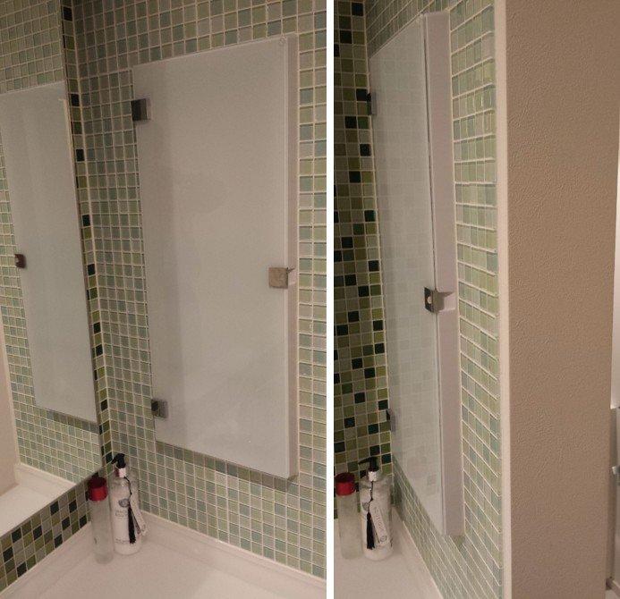 洗面所側面の壁に作って下さった収納