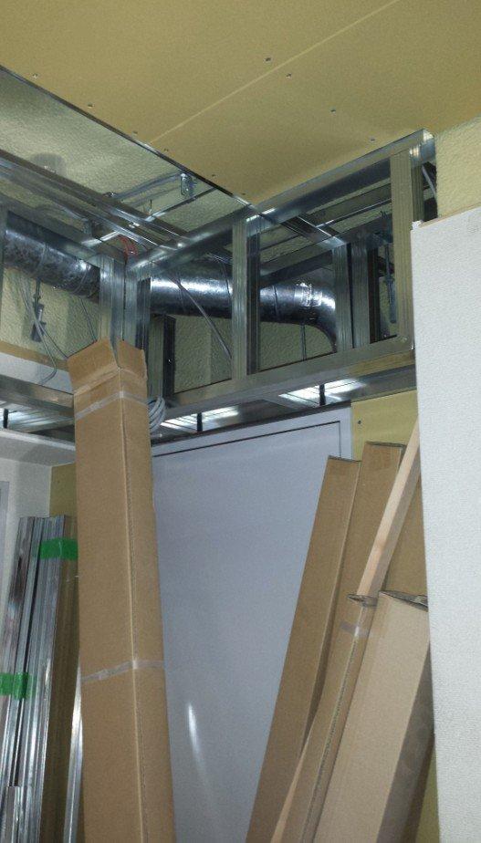 事務所のパイプスペース(地下の吸排気用)