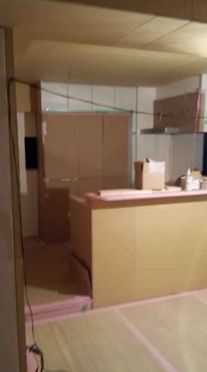 2階 キッチン(リノベーション中)