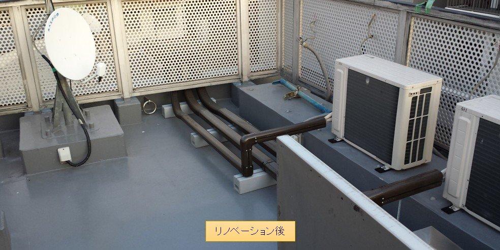 エアコン 室外機 屋上設置