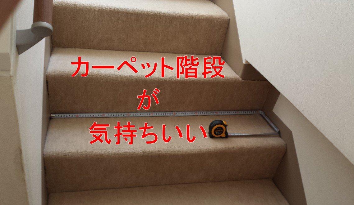 当家の絨毯(カーペット)階段
