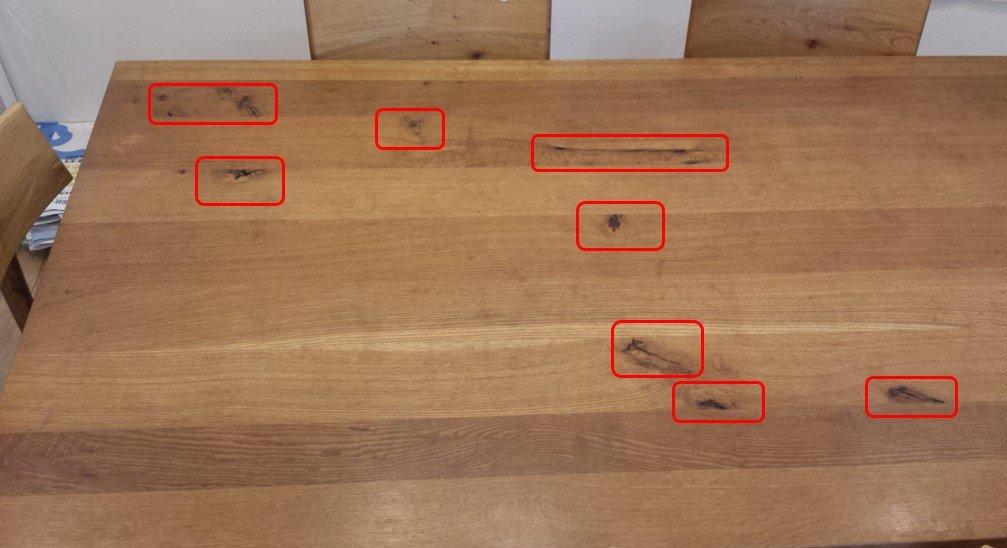 無垢ダイニングテーブル 節(森のことば)