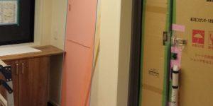 玄関の姿見鏡(造作)