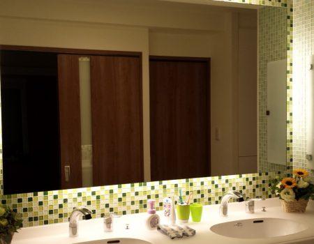 おしゃれ 洗面所 間接照明