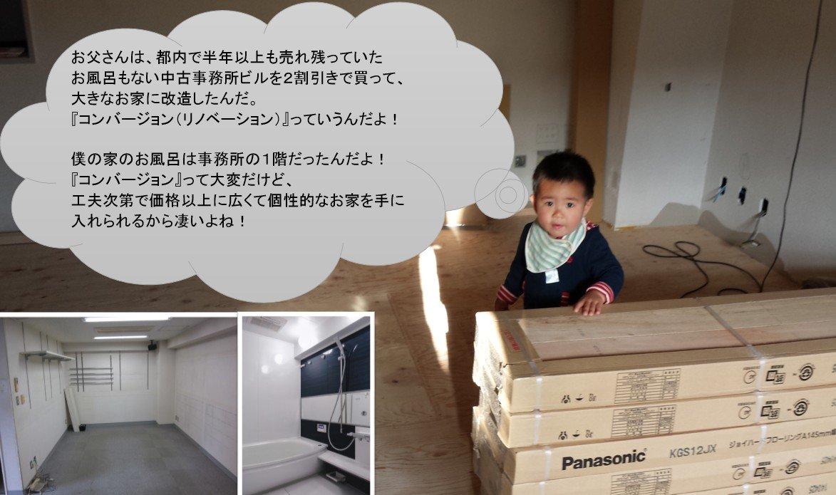 事務所にお風呂(コンバージョン)