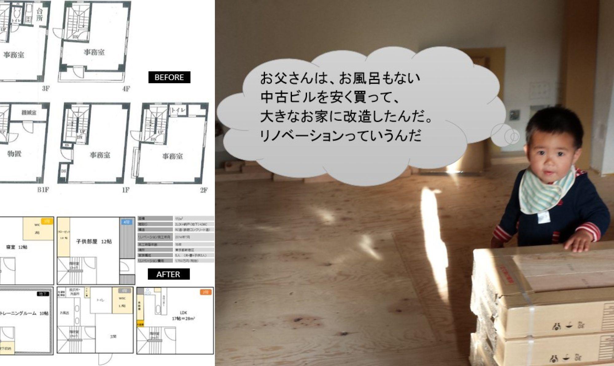 中古購入してフルリノベーション@東京の体験談ブログ~事務所ビルを住宅へコンバージョン~