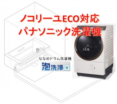 ノコリーユECOに対応しているパナソニック洗濯機