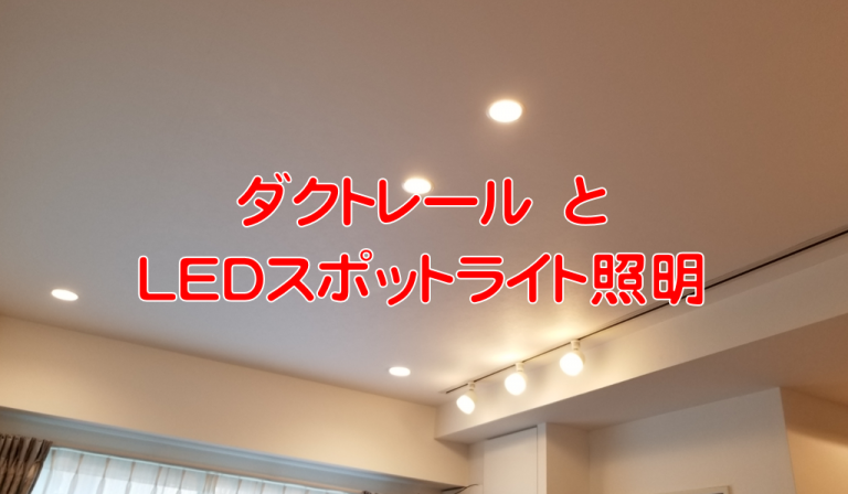 ダクトレールとLEDスポットライト照明