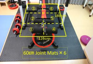EVA Joint mat for Irotech Muscular Set R140 Power Rack