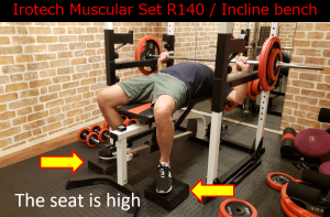 seat is high muscular set R140